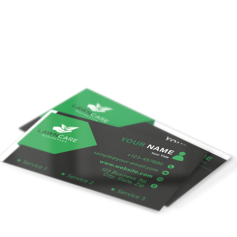 Business Cards Landscaping Marketing Department